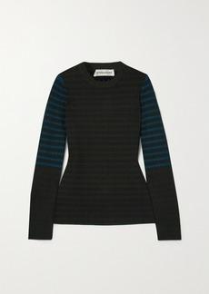 Victoria Beckham Cotton Jacquard-knit Sweater