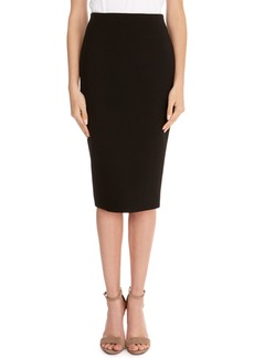Victoria Beckham Crepe Back-Zip Pencil Skirt