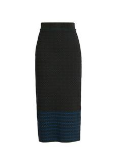 Victoria Beckham Cross Jacquard Knit Midi Skirt