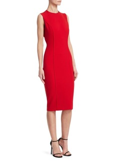 Victoria Beckham Curve Seam Sheath Dress
