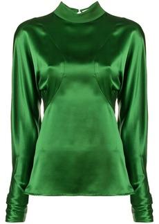 Victoria Beckham cut-out back drape blouse