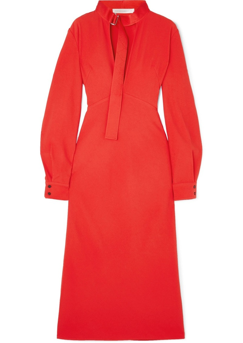 Victoria Beckham Cutout Cady Midi Dress