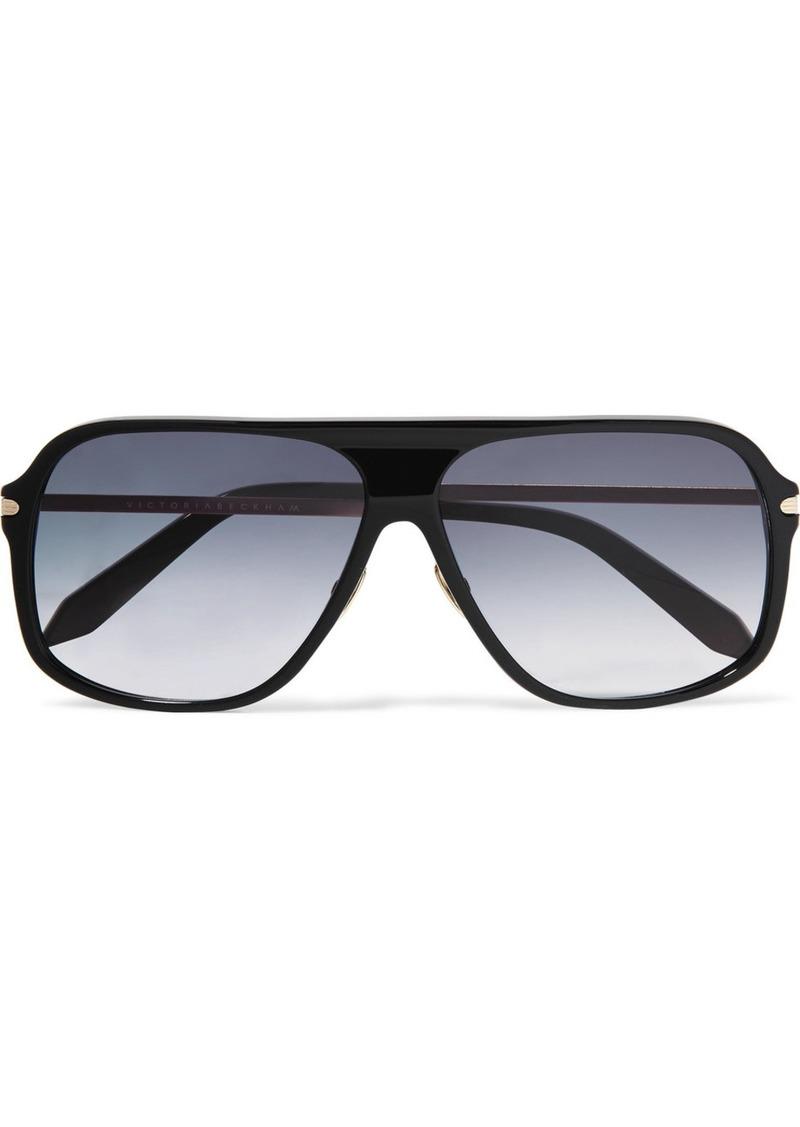 Victoria Beckham D-frame acetate and gold-tone sunglasses | Sunglasses