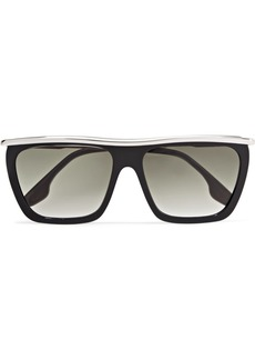 Victoria Beckham D-frame Acetate And Silver-tone Sunglasses