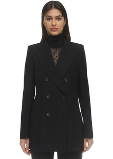 Victoria Beckham Double Breasted Wool Gabardine Jacket