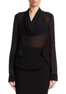 Victoria Beckham Drape Front Blouse