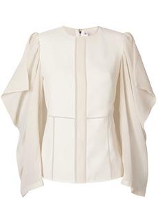 Victoria Beckham drape sleeve panelled top