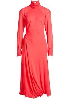 Victoria Beckham Draped Dress with Turtleneck