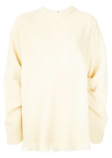 Victoria Beckham fluffy texture oversized sweatshirt