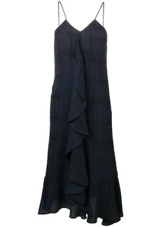 Victoria Beckham frilled cami midi dress