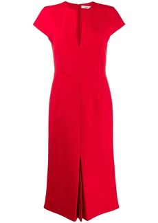 Victoria Beckham front pleat midi dress