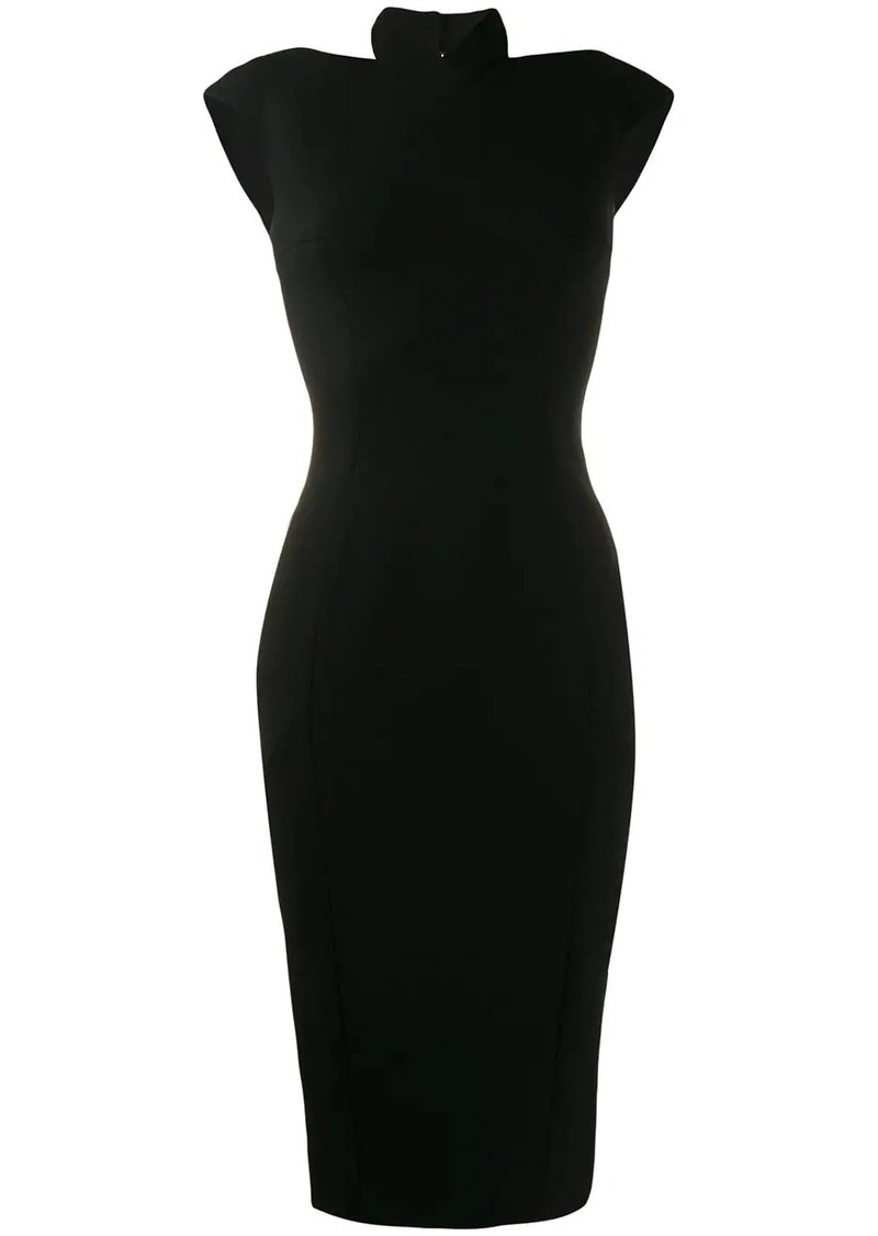 Victoria Beckham halter neck fitted dress