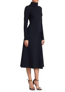 Victoria Beckham High-Neck Jersey Midi Dress