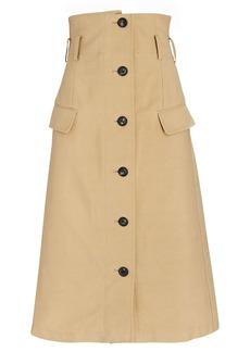 Victoria Beckham High-Waist Flare Midi Skirt