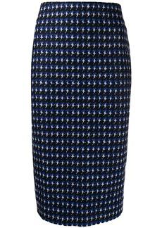 Victoria Beckham houndstooth pencil skirt