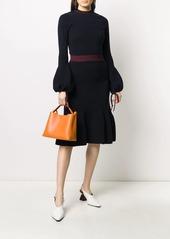 Victoria Beckham knitted godet skirt
