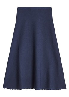 Victoria Beckham Knitted Wool Skirt
