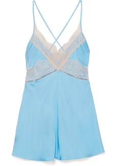 Victoria Beckham Lace-trimmed Satin Camisole