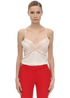 Victoria Beckham Laced Silk Satin Cami Top