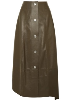 Victoria Beckham Leather Midi Skirt