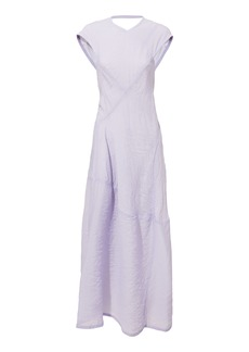 Victoria Beckham Lilac Open Back Midi Dress