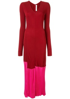Victoria Beckham long sleeve colour block dress