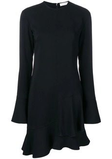 Victoria Beckham long sleeve frill mini dress
