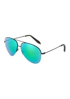 Victoria Beckham Metal Aviator Sunglasses