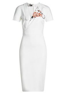Victoria Beckham Midi Dress with Cotton