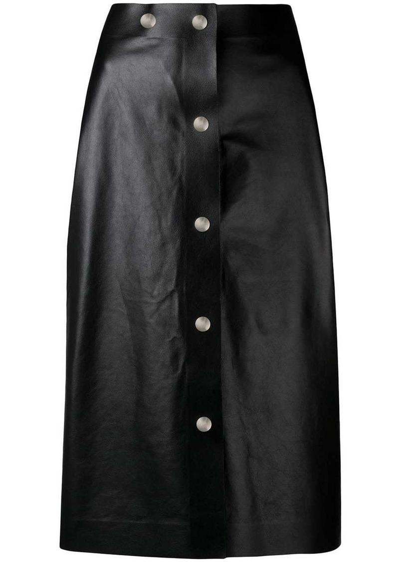 Victoria Beckham midi leather skirt