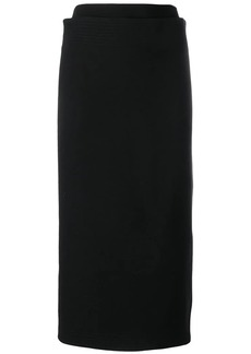 Victoria Beckham multistitch pencil skirt