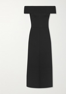 Victoria Beckham Off-the-shoulder Jersey Midi Dress
