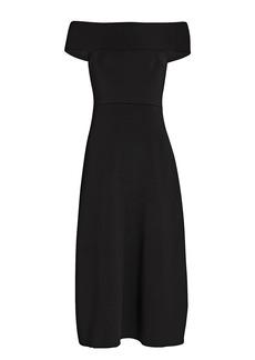 Victoria Beckham Off-the-Shoulder Midi Dress