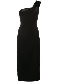 Victoria Beckham satin strap midi dress