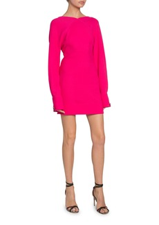 Victoria Beckham Open-Back Irregular Crepe Dress