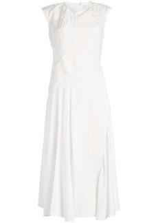 Victoria Beckham Patchwork Drape Midi Dress