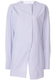 Victoria Beckham pinstripe oversize wrap shirt
