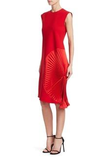 Victoria Beckham Pleat Panel Shift Dress