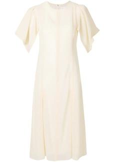 Victoria Beckham pleated front dress