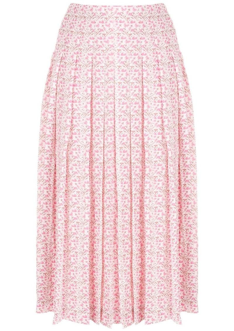 Victoria Beckham pleated jacquard skirt