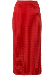 Victoria Beckham pleated knit skirt