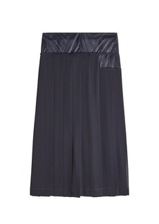 Victoria Beckham Pleated skirt with Mesh Panel