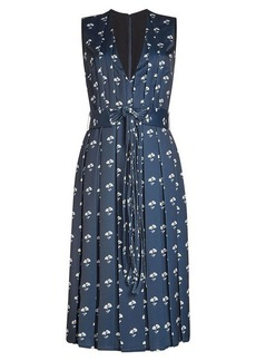 Victoria Beckham Printed Crepe Dress