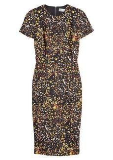 Victoria Beckham Printed Dress with Cotton