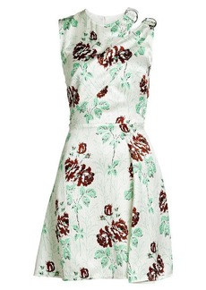 Victoria Beckham Printed Dress with Silk