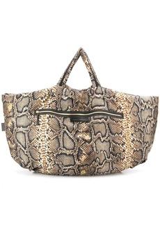 Victoria Beckham python print shopper bag