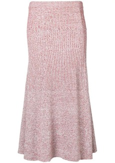 Victoria Beckham Rib Change flared skirt