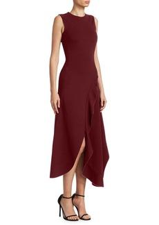 Victoria Beckham Ruffle Asymmetric Dress