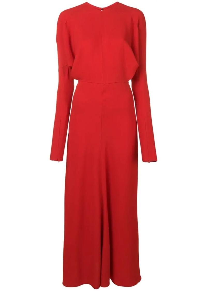 Victoria Beckham ruffle collar dress