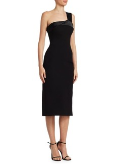 Victoria Beckham One-Shoulder Midi Sheath Dress